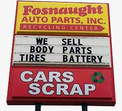 Fosnaught Auto Parts Inc sign